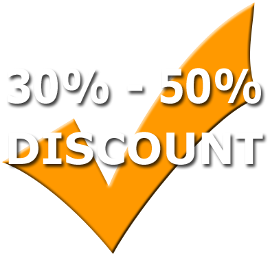 30% - 50% Discount